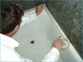 bathtub refinishing in  Alameda, Contra Costa, Marin, San Francisco, Millbrae, San Mateo, Santa Clara, Santa Cruz.